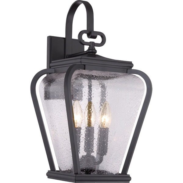 Quoizel PRV8409K Province 3 Light 19 inch Mystic Black Outdoor Wall Lantern