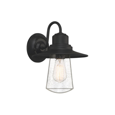 Quoizel Campbell 1 Light 15 inch Speckled Black Outdoor Wall Light