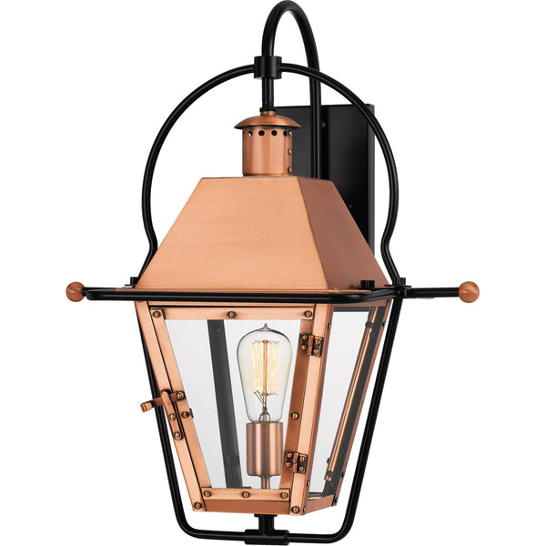 Quoizel Rue De Royal 1 Light 23 inch Aged Copper Outdoor Wall Lantern