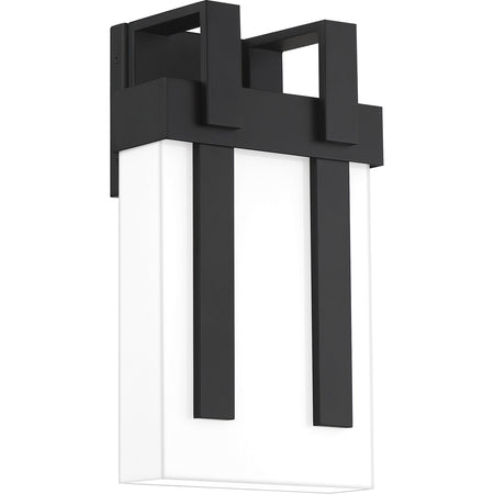 Quoizel Mulligan 1 Light 13 inch Matte Black Outdoor Wall Lantern