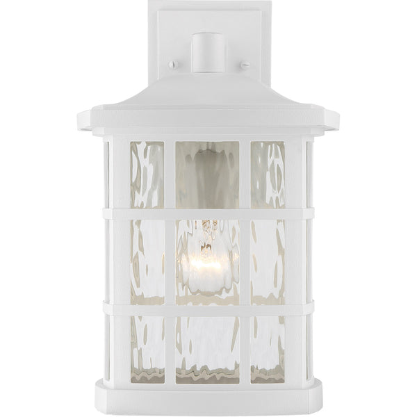 Quoizel SNN8409W Stonington 1 Light 16 inch Fresco Wall Lantern in White Lustre