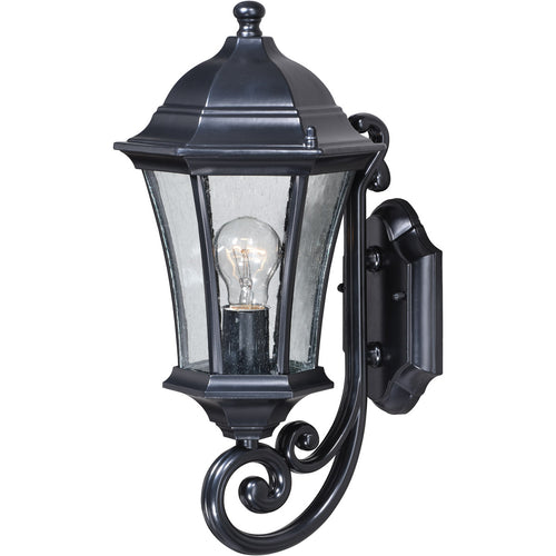 Vaxcel Aberdeen 1 Light 17 inch Shiny Black Outdoor Wall Light