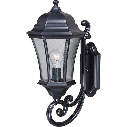 Vaxcel Aberdeen 1 Light 20 inch Shiny Black Outdoor Wall Light