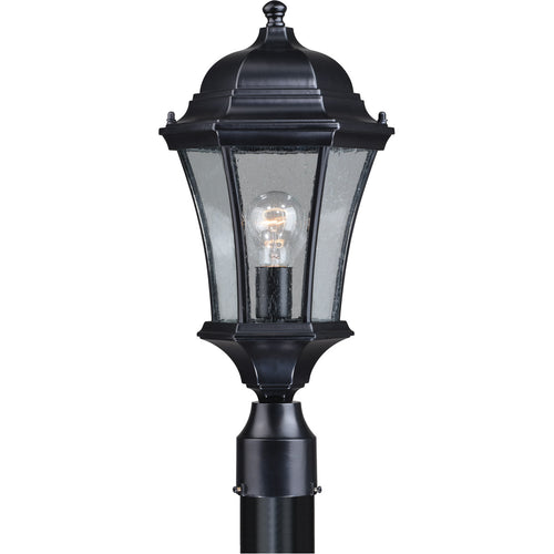 Vaxcel Aberdeen 1 Light 20 inch Shiny Black Outdoor Post