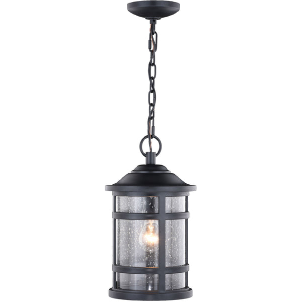 Vaxcel Southport 1 Light 9 inch Matte Black Outdoor Pendant