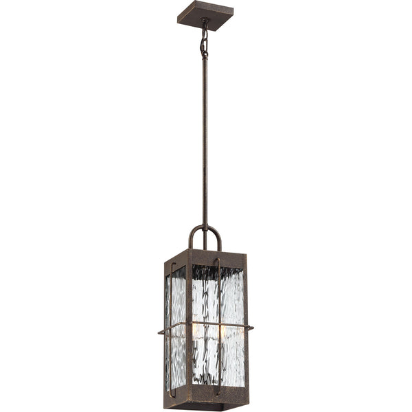 Quoizel Ward 2 Light 8 inch Gilded Bronze Outdoor Hanging Lantern