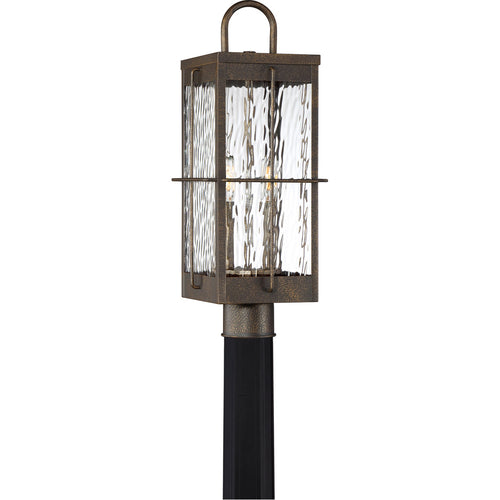 Quoizel Ward 2 Light 21 inch Gilded Bronze Outdoor Post Light