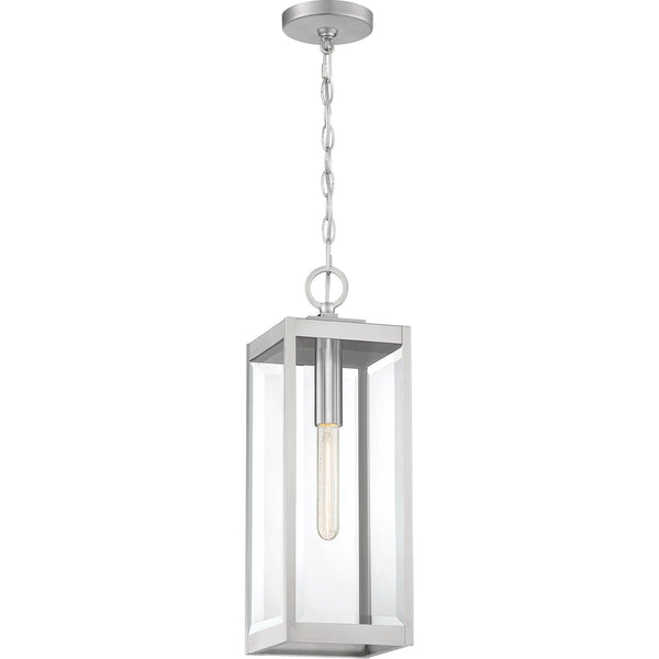 Quoizel Westover 1 Light 7 inch Stainless Steel Outdoor Hanging Lantern