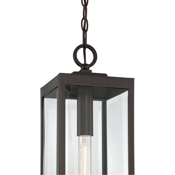 Quoizel Westover 1 Light 7 inch Western Bronze Outdoor Hanging Lantern