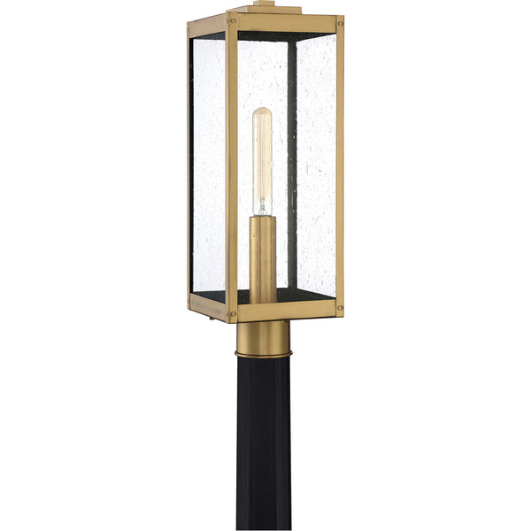 Quoizel WVR9007A Westover 1 Light 21 inch Antique Brass Outdoor Post Lantern