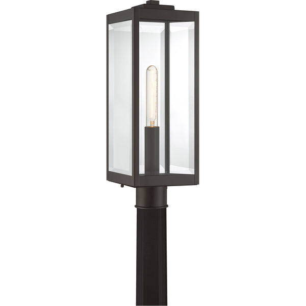 Quoizel Westover 1 Light 21 inch Western Bronze Outdoor Post Lantern