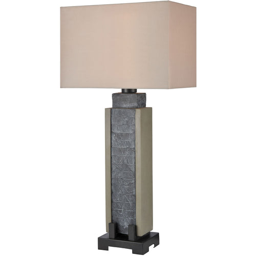 Dimond Lighting D4005 Glomma 32 inch 100 watt Washed Grey Slate with Polished Concrete Outdoor Table Lamp