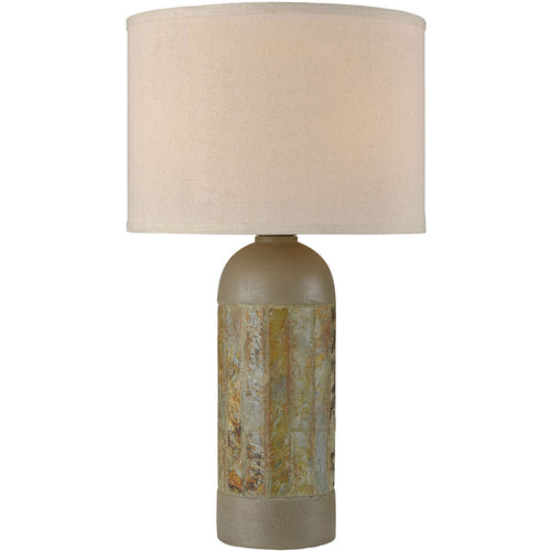 Dimond Lighting D4007 Artemis 26 inch 100 watt Natural Slate with Polished Concrete Outdoor Table Lamp