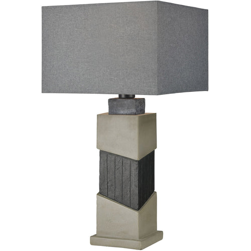 Dimond Lighting D4008 Inverness 29 inch 100 watt Black Slate with Polished Concrete Outdoor Table Lamp