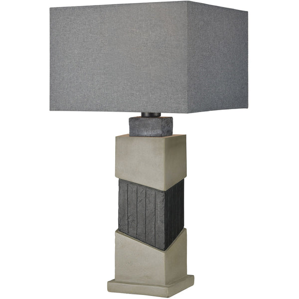 Dimond Lighting Inverness 29 inch 100 watt Black Slate/Polished Concrete Outdoor Table Lamp
