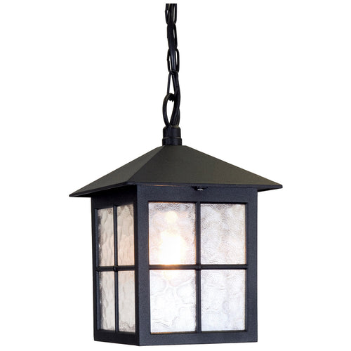 Lucas + McKearn Lighting Collection EL/BL18B Winchester 1 Light 8 inch English Black Hanging Outdoor Lantern Elstead