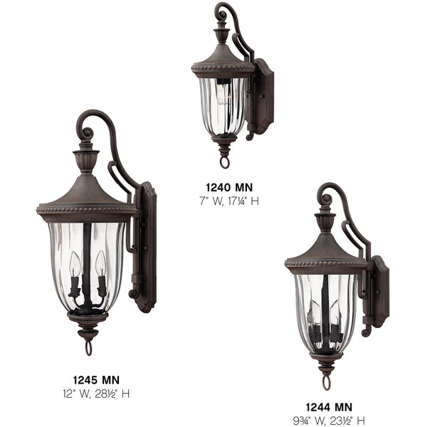 Hinkley Lighting 1244MN Oxford 3 Light 24 inch Midnight Bronze Outdoor Wall Mount