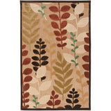 Surya Portera 90 X 60 inch Brown and Green Outdoor Area Rug Olefin