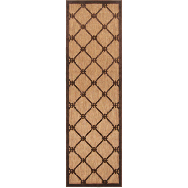 Surya PRT1025-26710 Portera 94 X 30 inch Brown and Brown Outdoor Runner Olefin