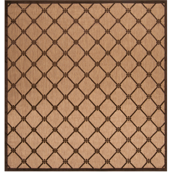 Surya Portera 90 X 90 inch Brown and Brown Outdoor Area Rug Olefin