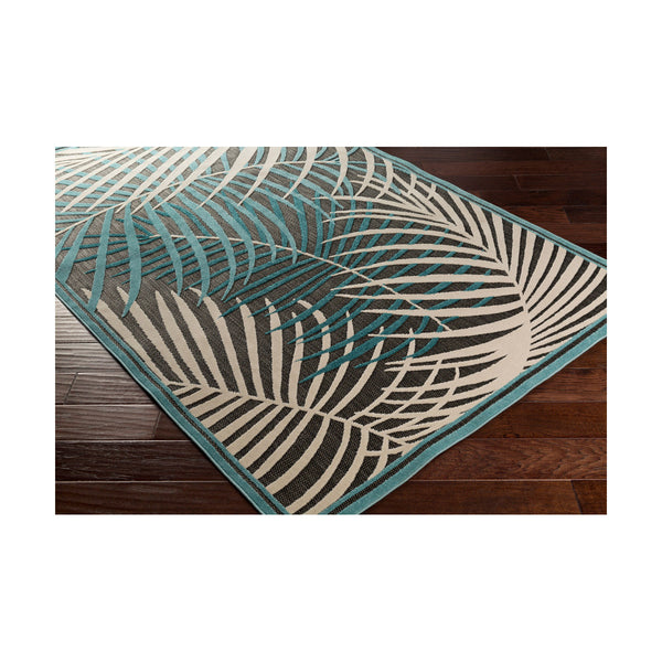 Surya Portera 128 X 94 inch Blue and Blue Outdoor Area Rug Polypropylene