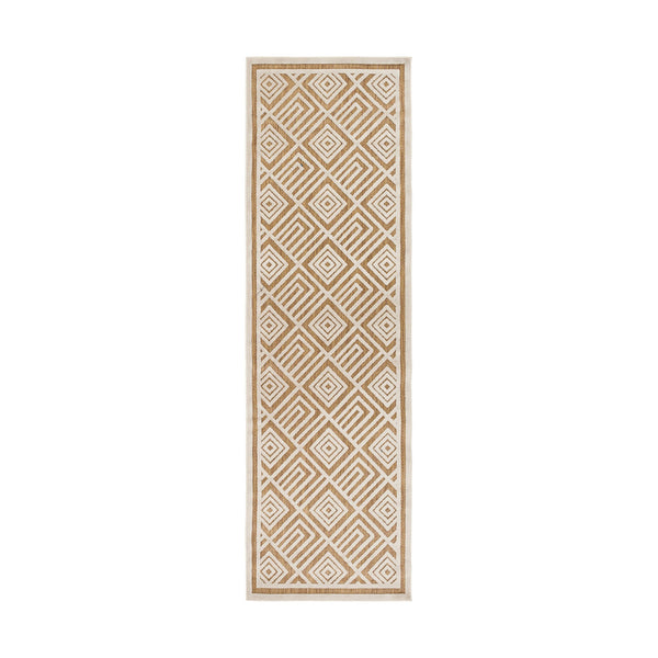 Surya PRT1069-26710 Portera 94 X 30 inch Neutral and Brown Outdoor Runner Polypropylene