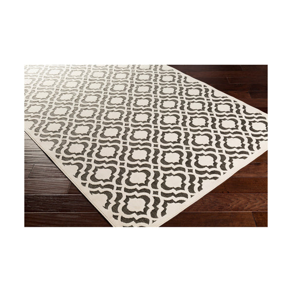 Surya PRT1075-3958 Portera 68 X 45 inch Neutral and Black Outdoor Area Rug Polypropylene