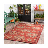 Surya Rain 96 X 60 inch Orange and Red Outdoor Area Rug Polypropylene
