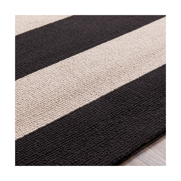 Surya Rain 120 X 96 inch Black and Neutral Outdoor Area Rug Polypropylene