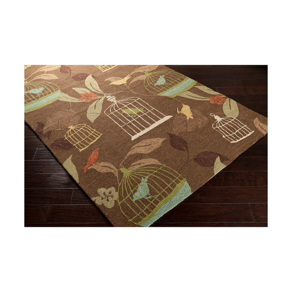 Surya Rain 18 X 18 inch Dark Brown Outdoor Area Rug Sample