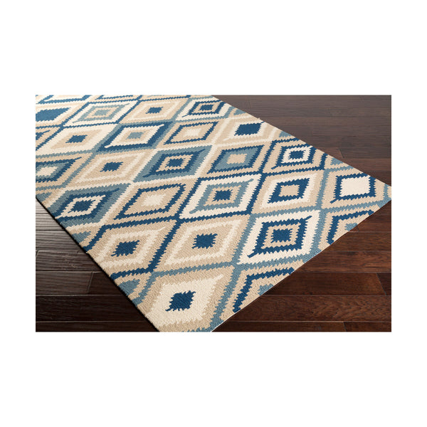 Surya Rain 60 X 36 inch Blue and Neutral Outdoor Area Rug Polypropylene