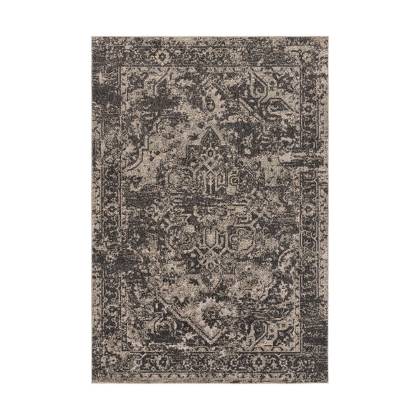 Surya SAS1000-5373 Stardust 87 X 63 inch Black and Neutral Outdoor Area Rug Polypropylene