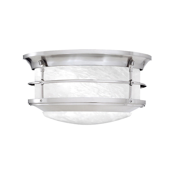 Thomas Lighting Outdoor Essentials 2 Light 11 inch Brushed Nickel Exterior Flush Mount