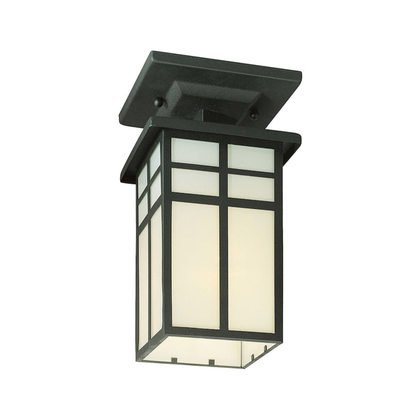 Thomas Lighting Mission 1 Light 6 inch Black Exterior Flush Mount