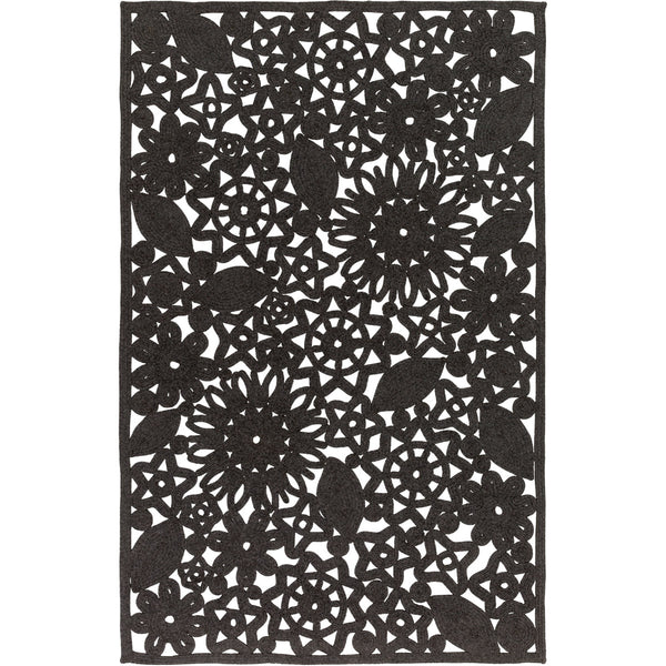 Surya SNB4016-576 Sanibel 90 X 60 inch Black Outdoor Area Rug Polypropylene Polyester and Viscose