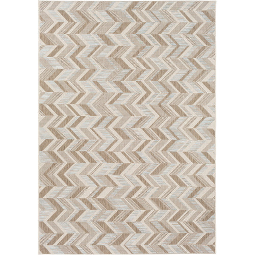 Decovio 12537-BN Oswego 91 X 63 inch Brown and Neutral Outdoor Area Rug Polypropylene