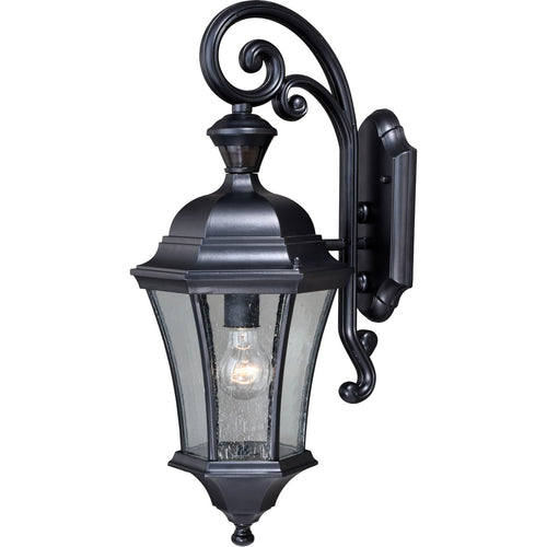 Vaxcel Aberdeen 1 Light 23 inch Shiny Black Outdoor Wall Light