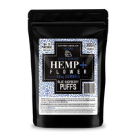 Blue Raspberry Puffs 50 mg CBD isolate/each - 300 mg per pack - 6 pieces