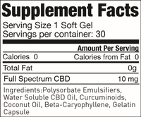 supplement facts for gelcaps