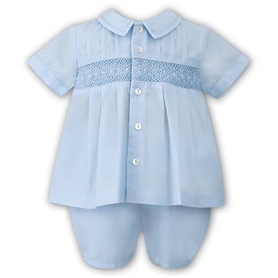 SARAH LOUISE BOYS TWO PIECE CHRISTENING SUIT