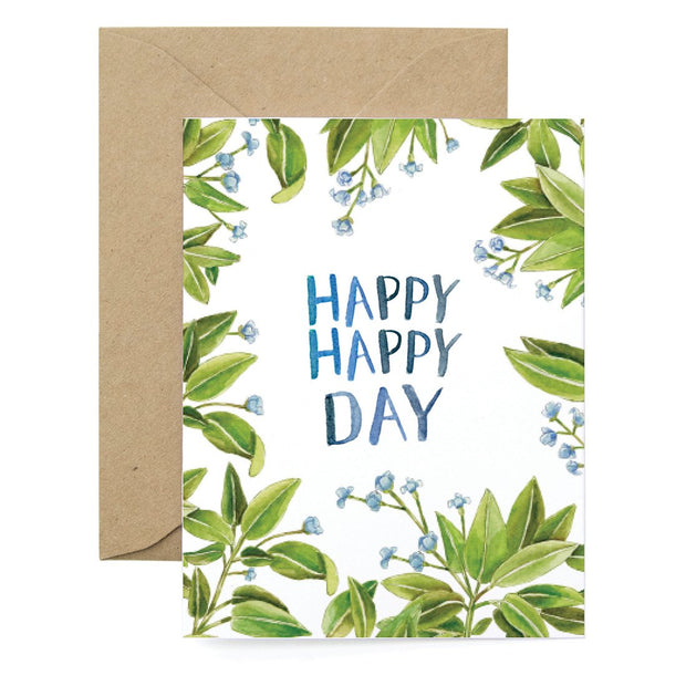 Greenery Happy Day Card