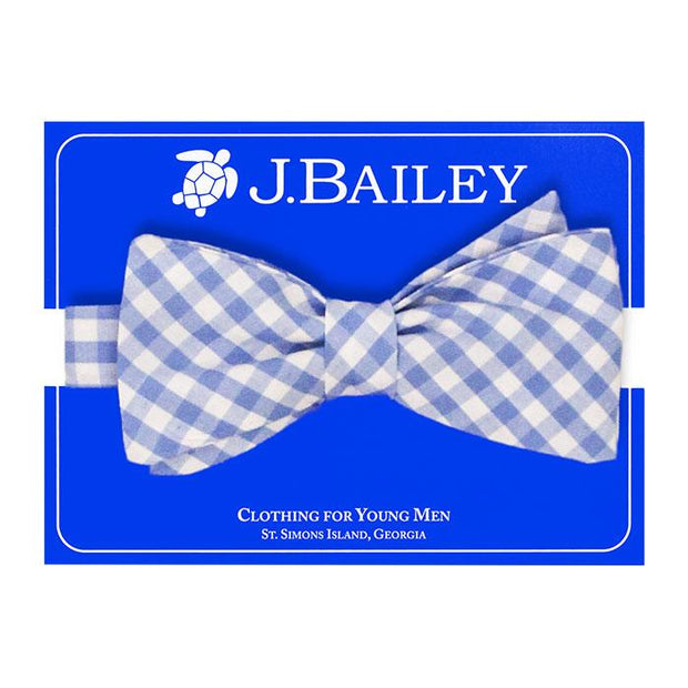 JOHNNY BOW TIE - MED BLUE CHECK