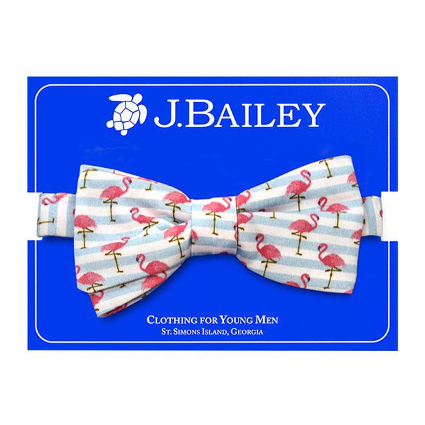 JOHNNY BOW TIE - FLAMINGO PRINT