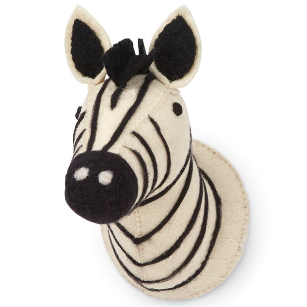 MINI SAFARI ZEBRA WOOL WALL MOUNT