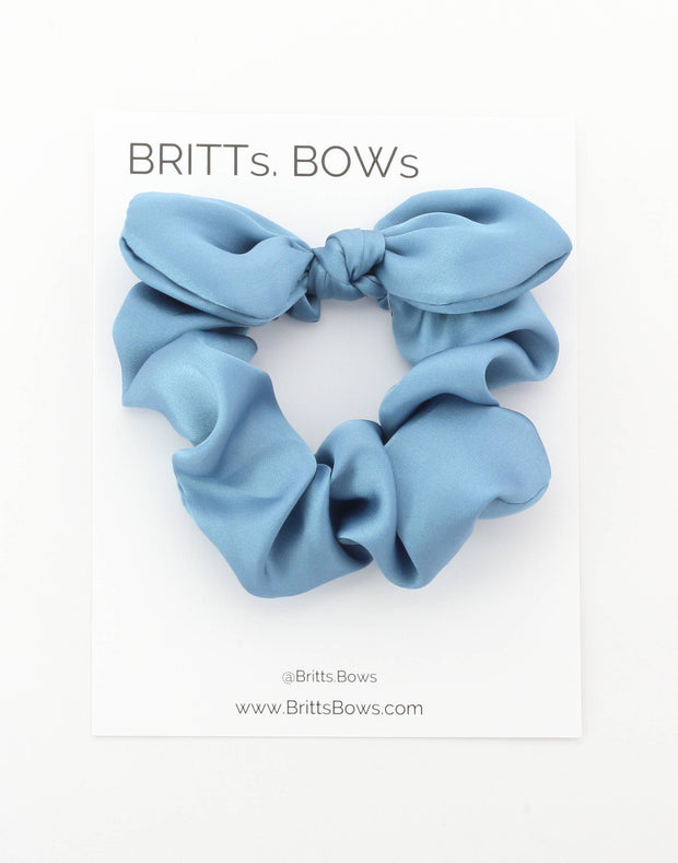 BRITTs. BOWs - Satin Wine Hair Scrunchie Bow
