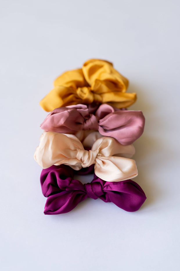 BRITTs. BOWs - Satin Rose Hair Scrunchie Bow