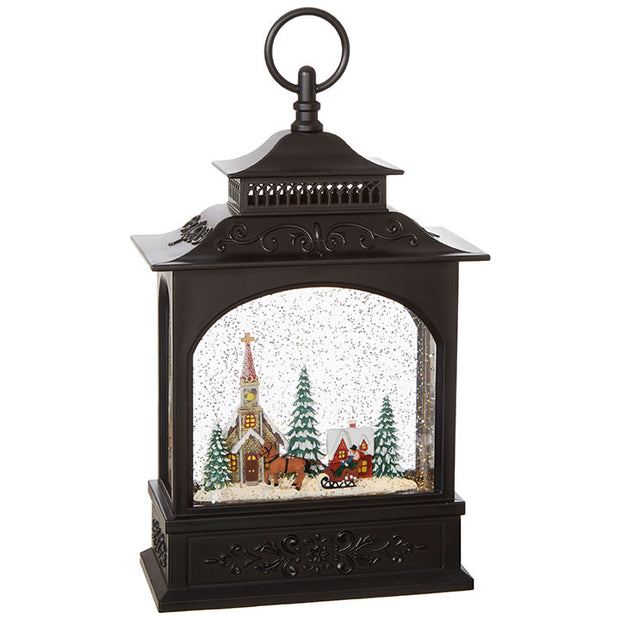 "11"" Town Scene Musical Lighted Water Lantern"