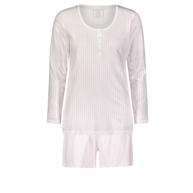 Marty Long sleeve top w/shorts Crescent Baby Pink