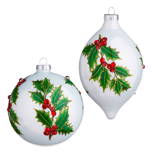 "5"" Holly Ornament"