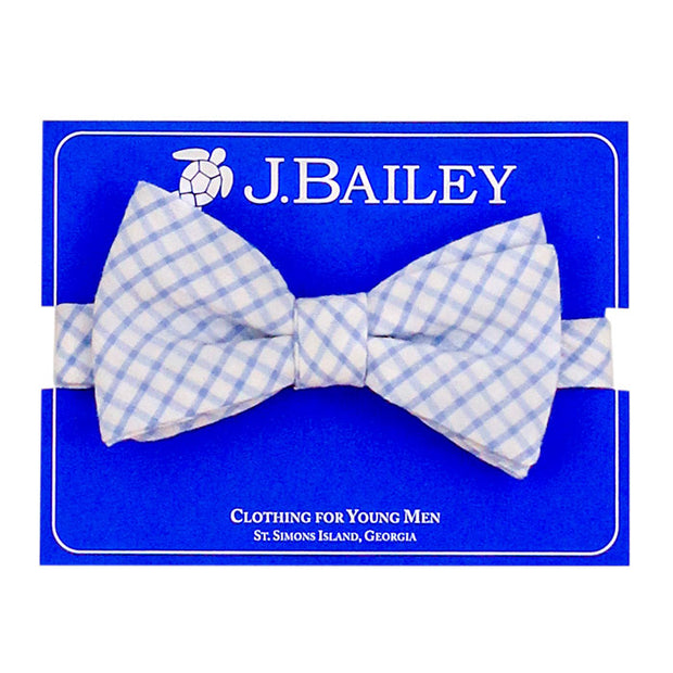 JOHNNY BOW TIE - BLUE WINDOWPANE